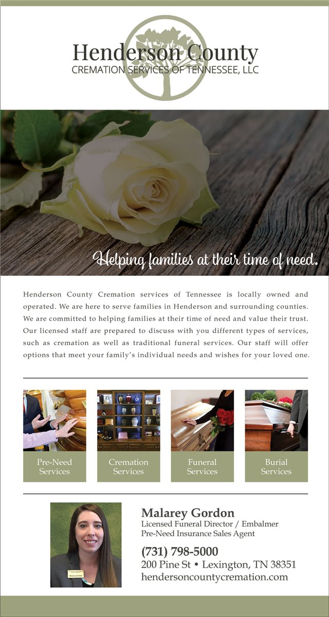 Henderson County Cremation Services of TN LLC