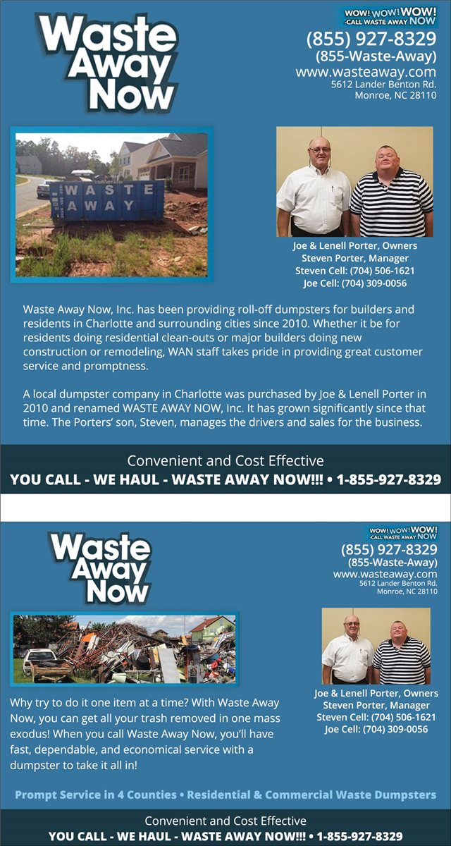 Waste Away Now, Inc.