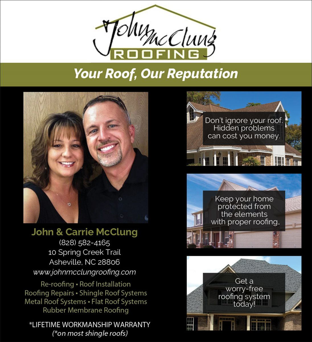 Christians In Business John Mcclung Roofing Details