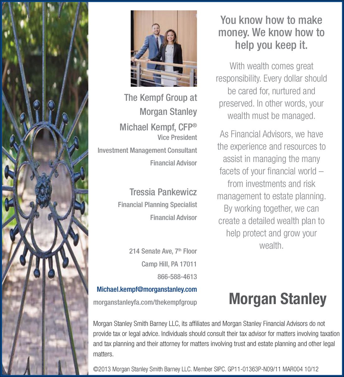Christians In Business - The Kempf Group @ Morgan Stanley - Details